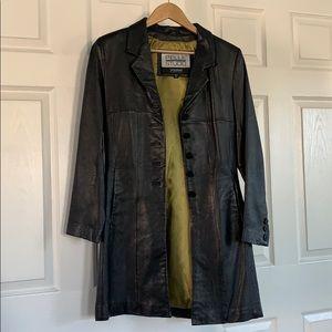 Women's Pelle Studio Wilson's long leather coat